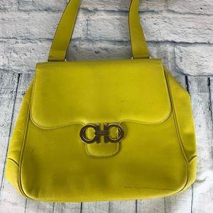 Salvatore Ferragamo Green Shoulder Bag | Purse